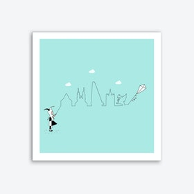 Basel Skyline Kite Art Print