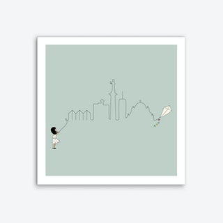 Belgrade Skyline Kite Art Print