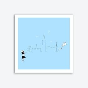 Hamburg Skyline Kite Art Print