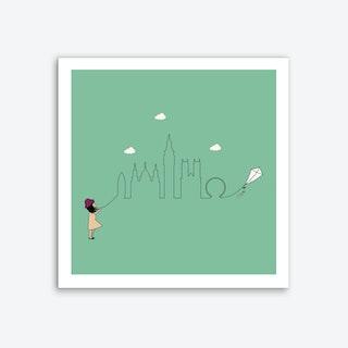 London Skyline Kite Art Print
