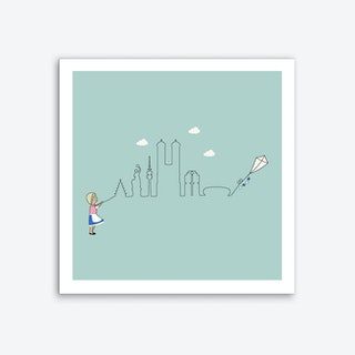 Munich Skyline Kite Art Print