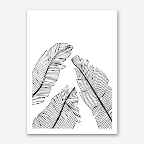 Banana Leaves II Art Print