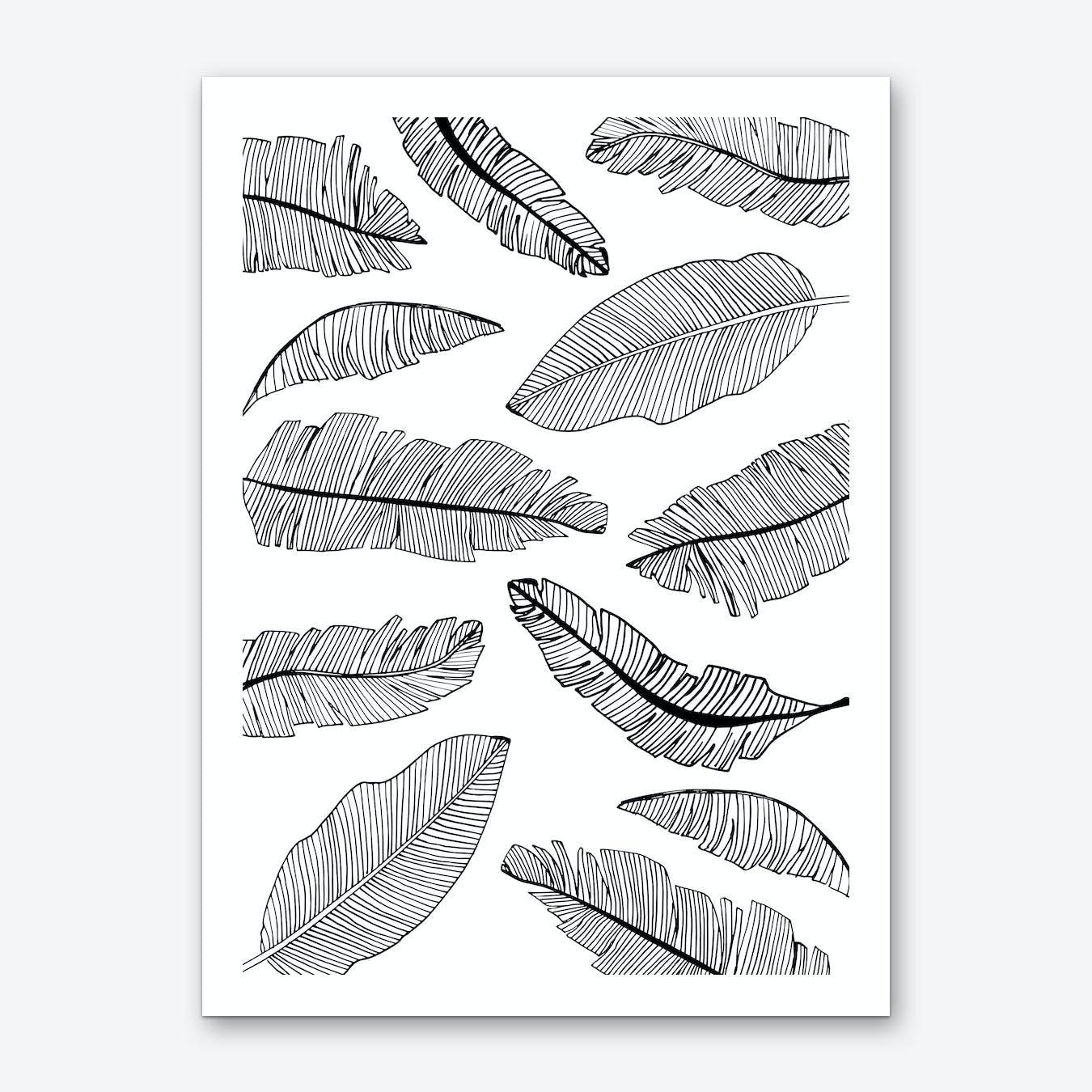 Banana Leaves III Art Print