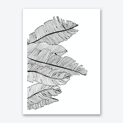 Banana Leaves V Art Print