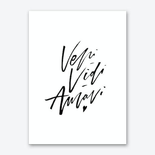 Veni Vidi Amavi Art Print