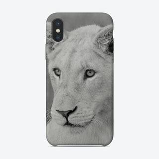 Young White Lion Phone Case