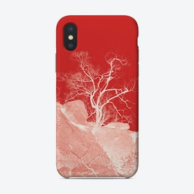 Tree In Africa Red Phone Case