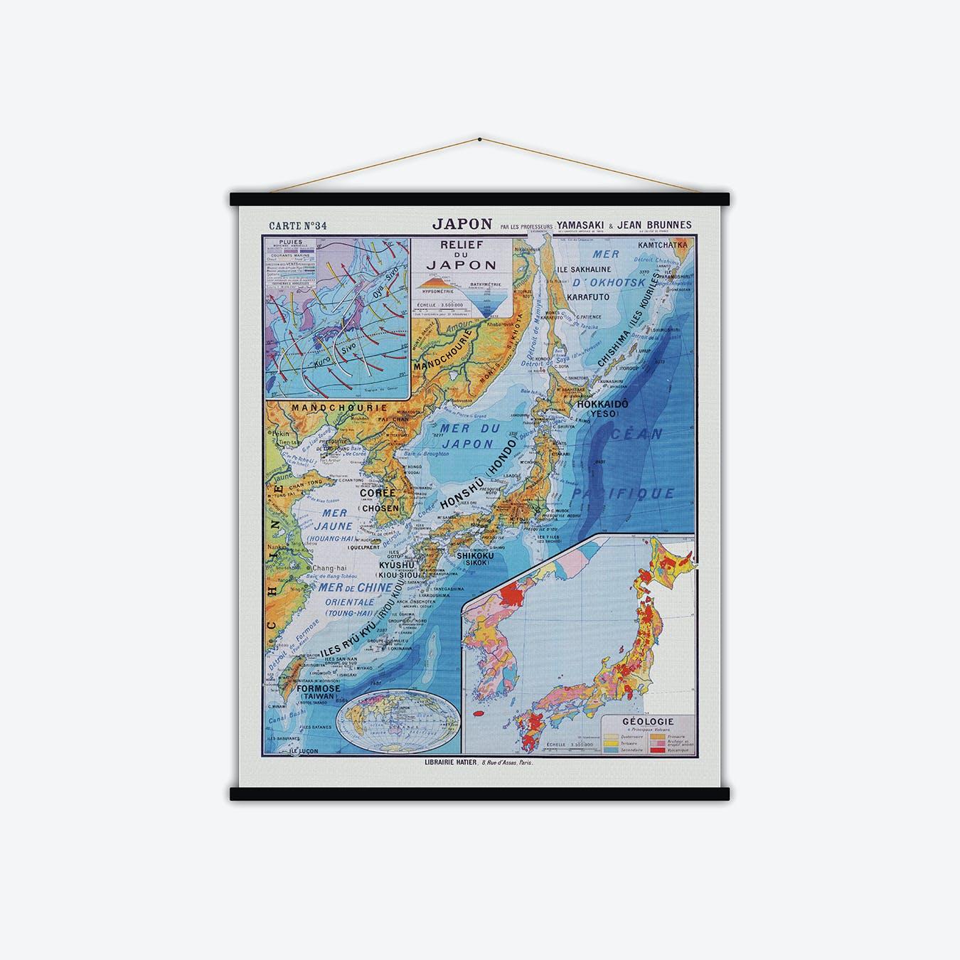 Japon Vintage Map