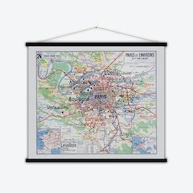 Paris et environs Vintage Map