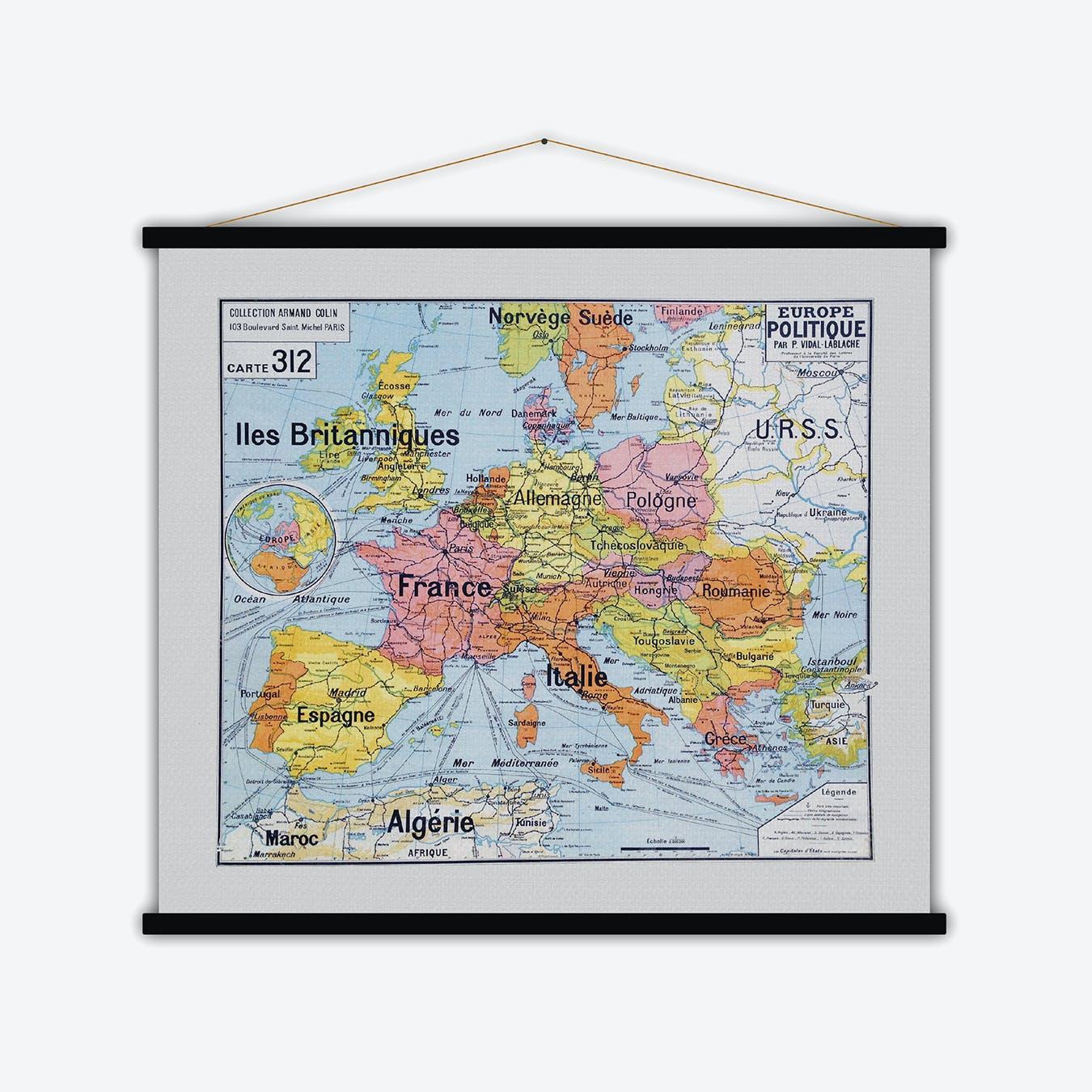 Europe Politique Vintage Map