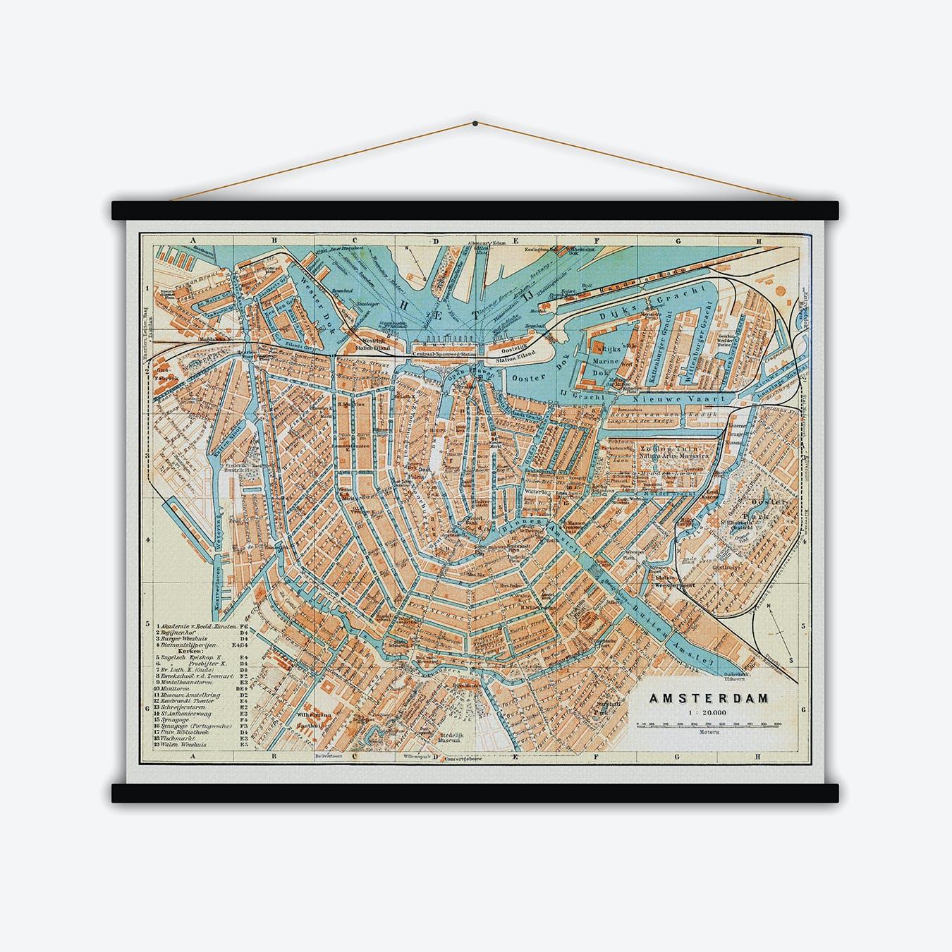 Amsterdam Vintage Map
