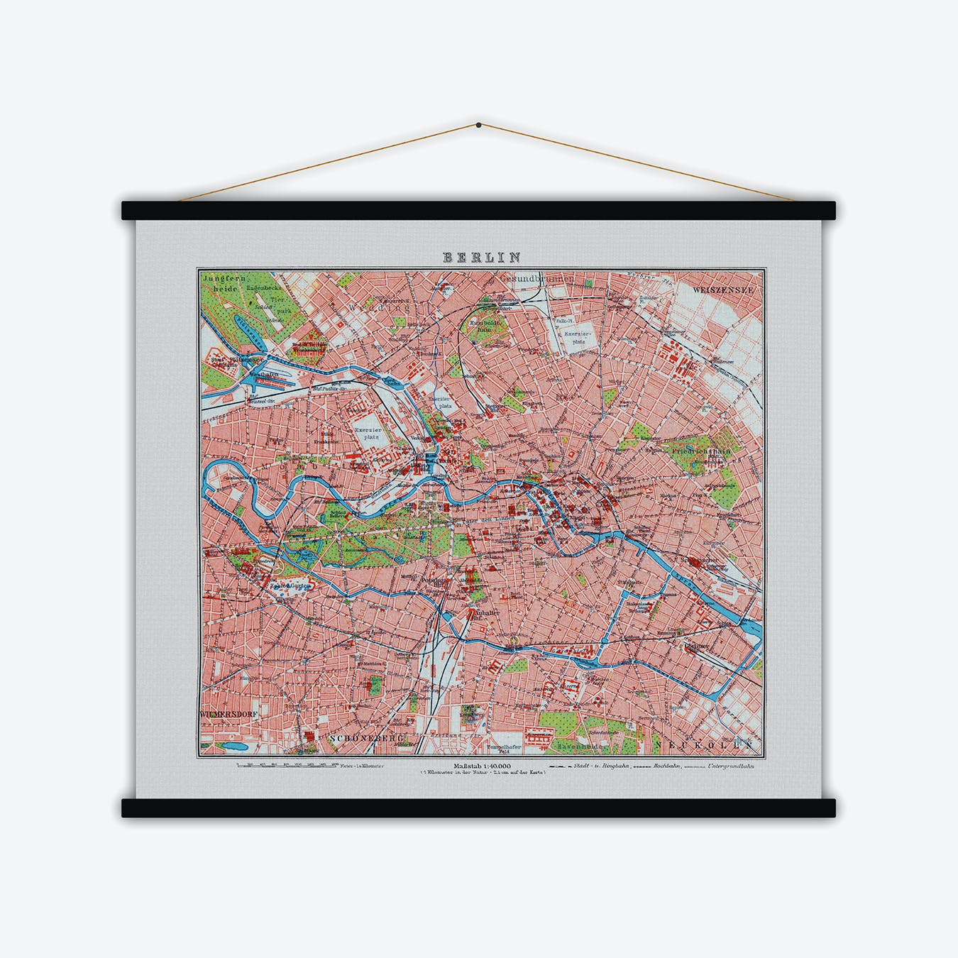 Berlin Vintage Map