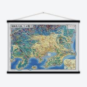 Tokyo Vintage Map