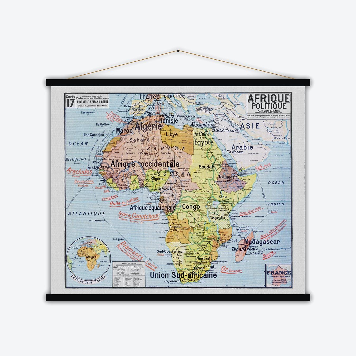 Afrique Vintage Map