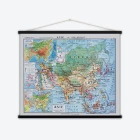 Asie Vintage Map