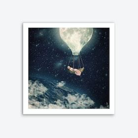 The Moon Carries Me Away Art Print