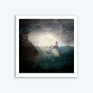 The Fish Who Stole the Moon Art Print