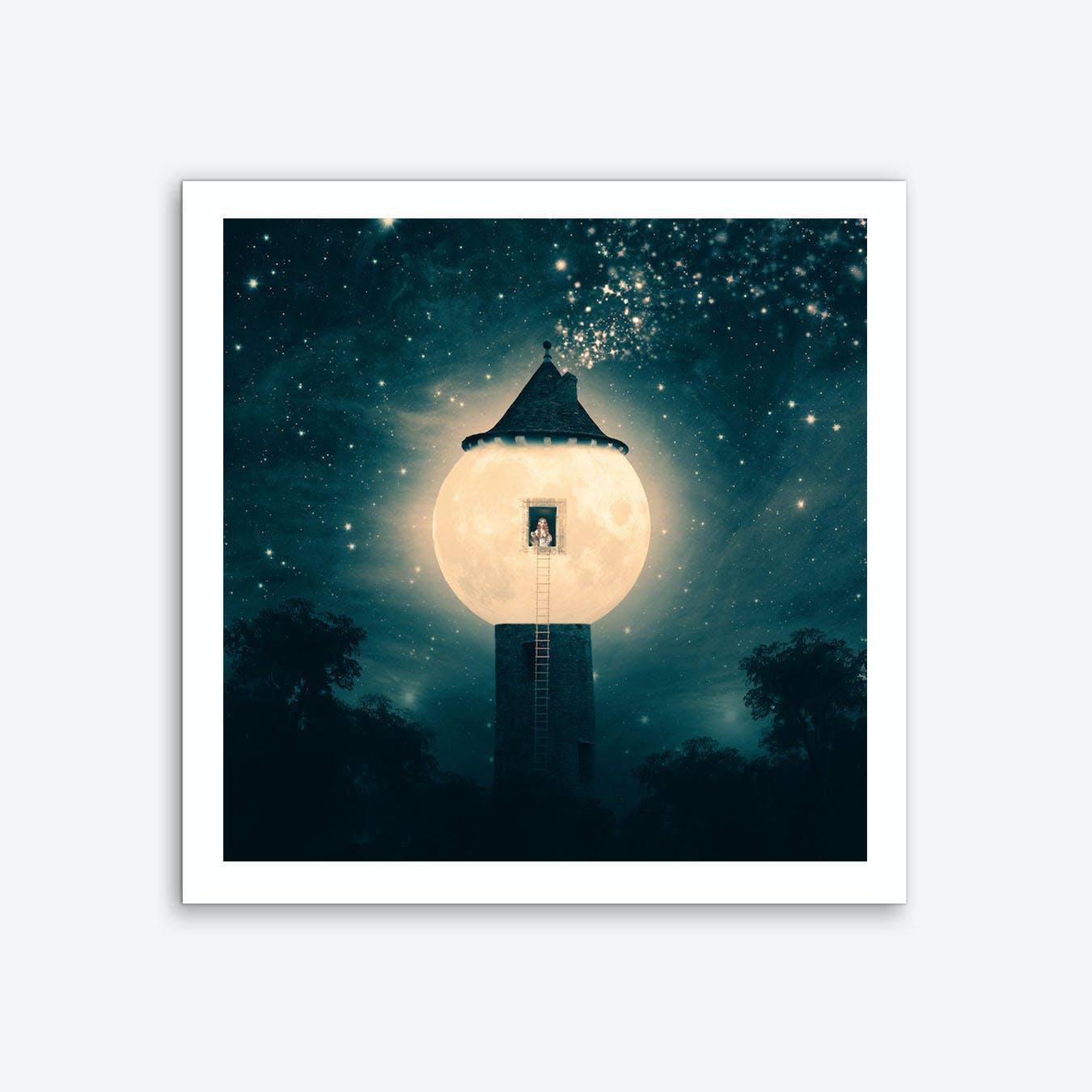 Moon Tower Art Print
