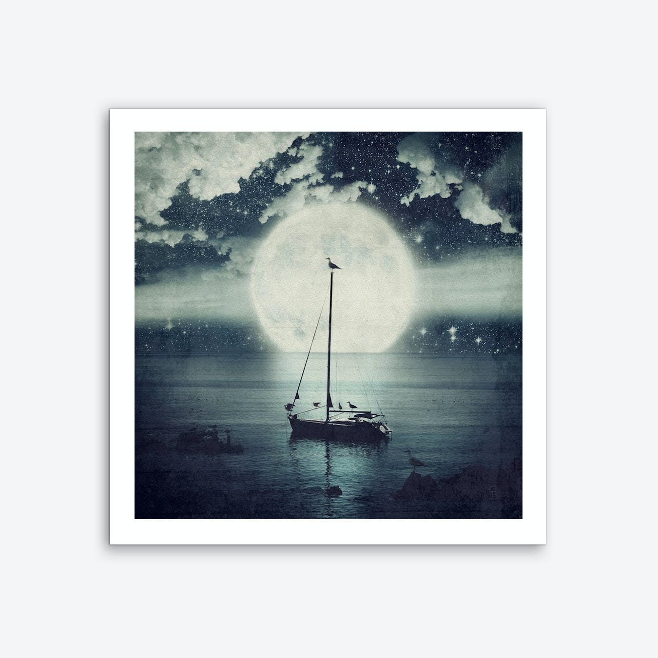 Starry Night Seascape Art Print