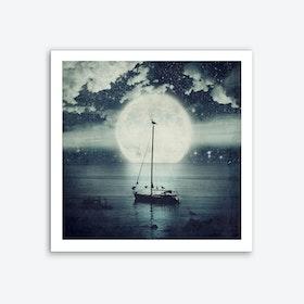 Starry Night Seascape Art Print