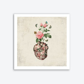Love Makes My Heart Bloom Art Print