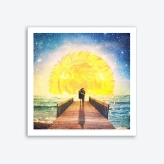 A Beautiful Floral Sunrise Art Print