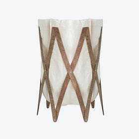 Marie Pi Laundry Basket  in Beige/Walnut