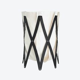 Marie Pi Laundry Basket  in Beige/Black