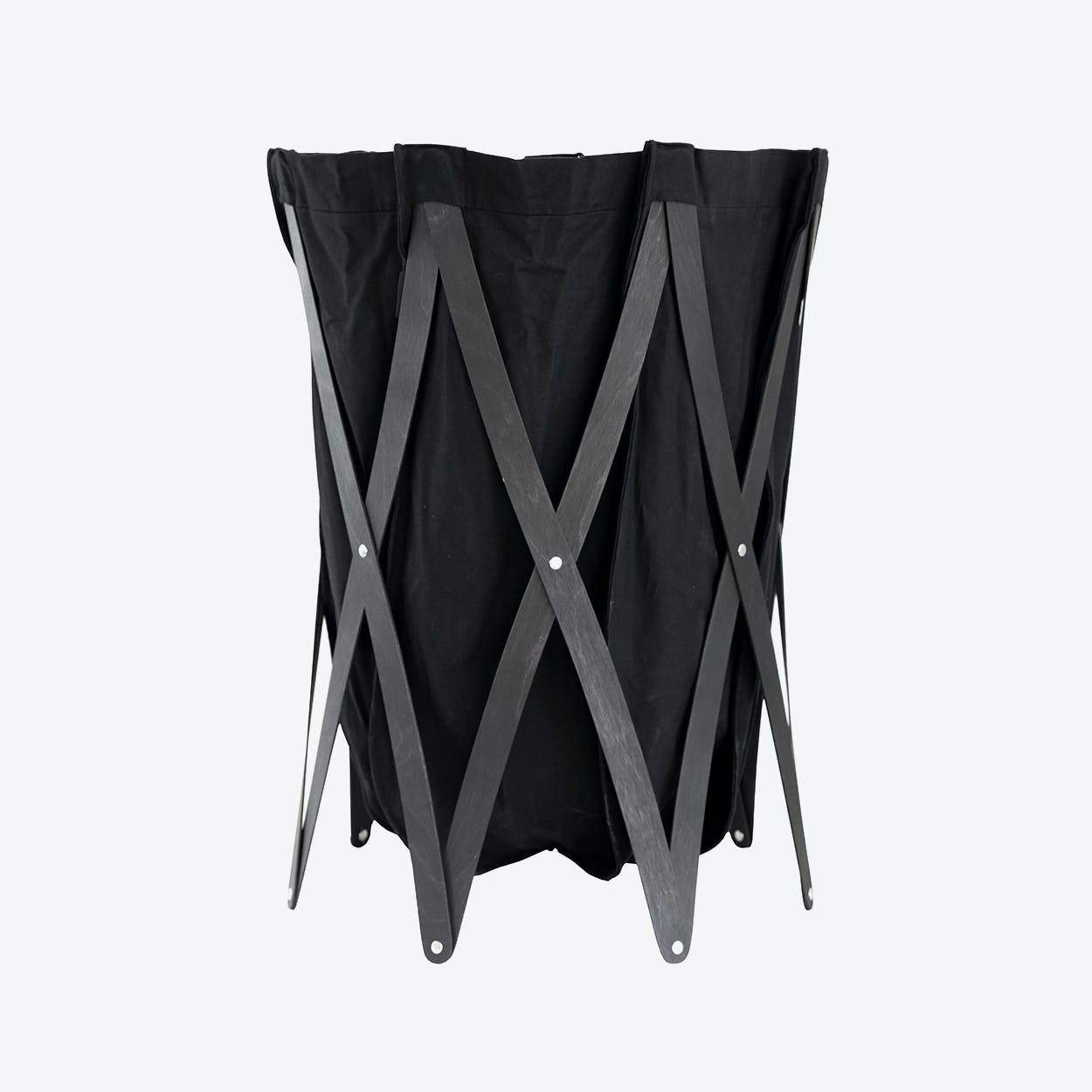 Marie Pi Laundry Basket in Anthracite/Black