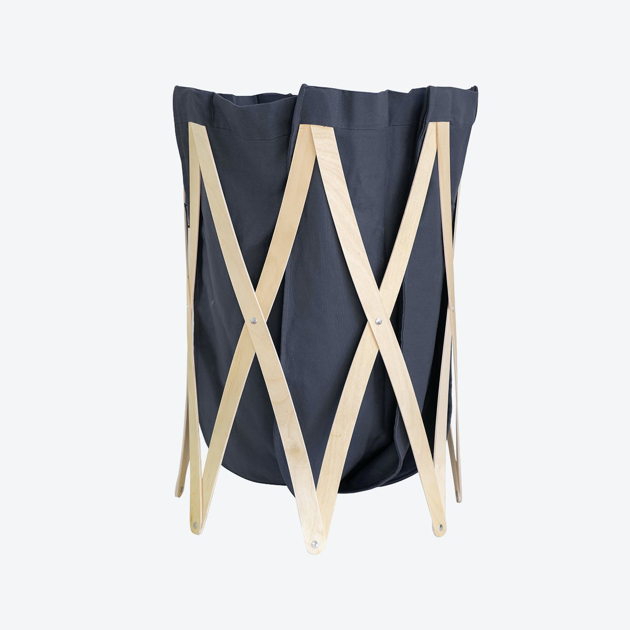 Marie Pi Laundry Basket in Navy/Natural