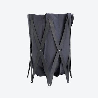 Marie Pi Laundry Basket in Navy/Black