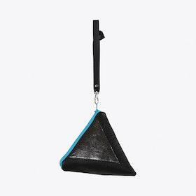 Pyramid Wristlet Clutch in Black