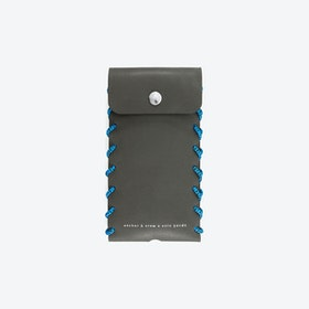Large Falcon Grey Standen Leather and Rope Phone Case