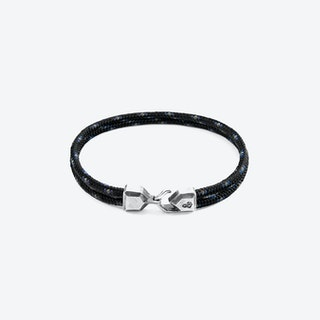 Black Cromer Silver and Rope Bracelet