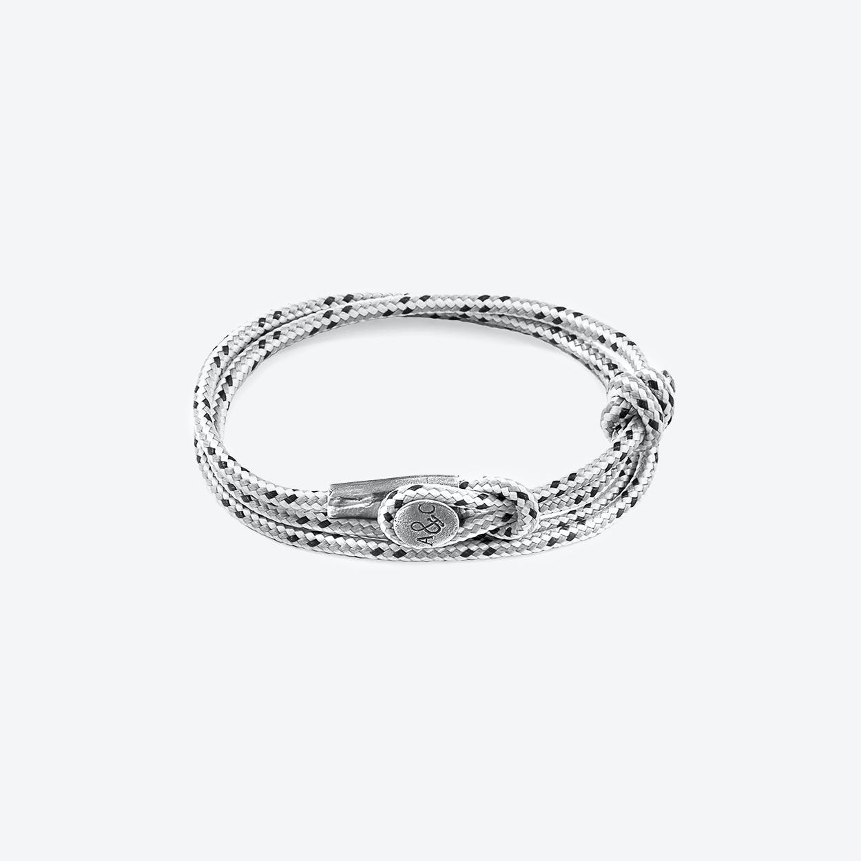 Grey Dash Dundee Silver and Rope Bracelet