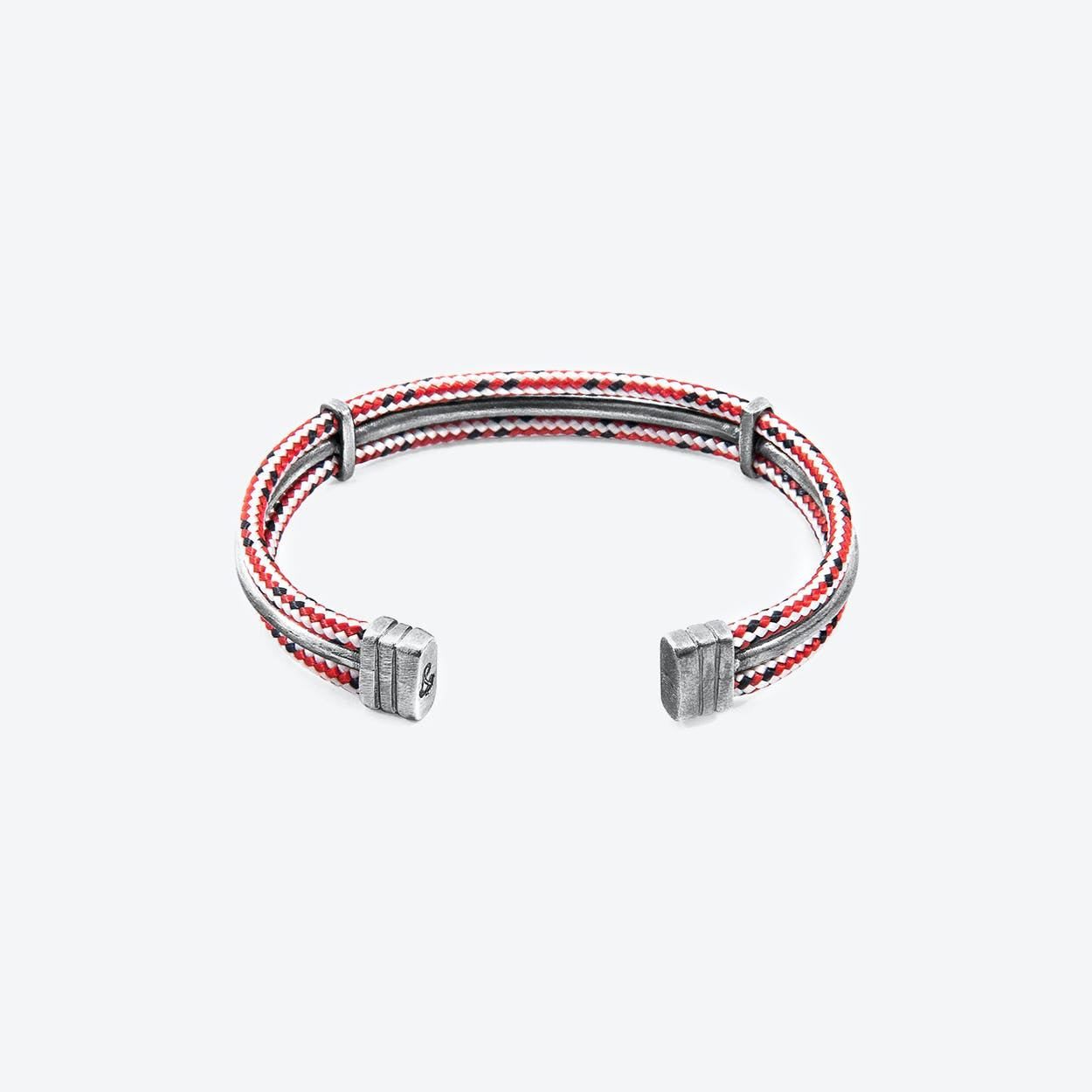 Red Dash Aire Silver and Rope Bangle