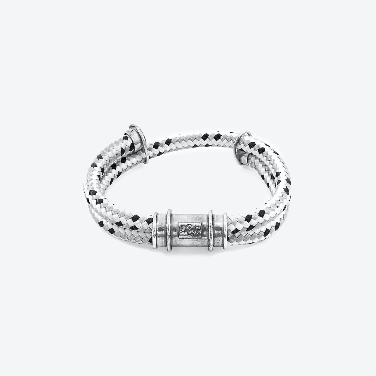 Grey Dash Larne Silver and Rope Bracelet