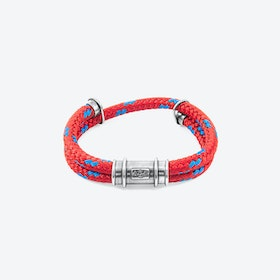 Red Larne Silver and Rope Bracelet