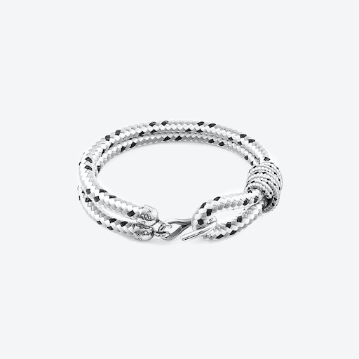 Grey Dash Great Yarmouth Silver and Rope Bracelet