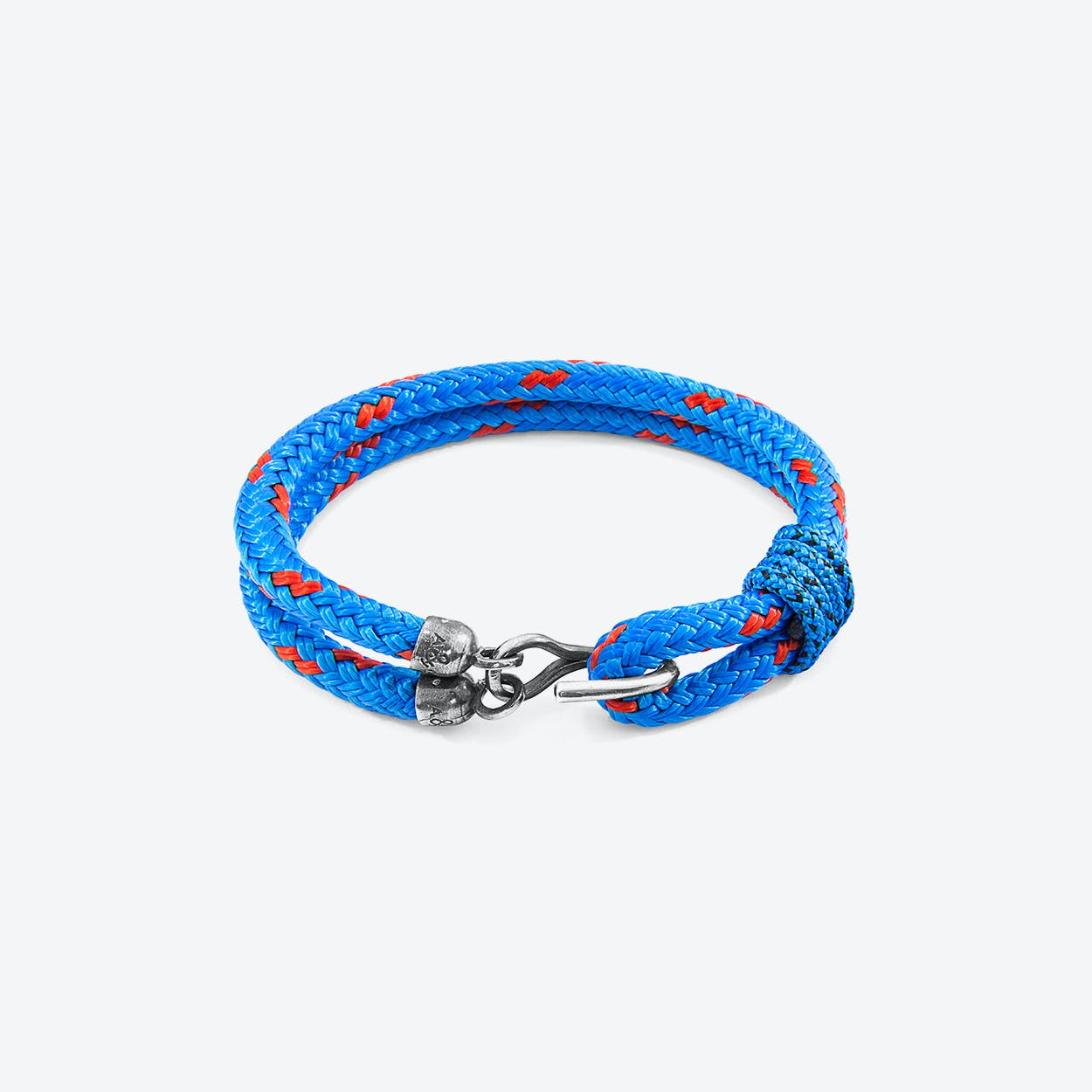 Blue Great Yarmouth Silver and Rope Bracelet