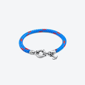 Blue Salcombe Silver and Rope Bracelet