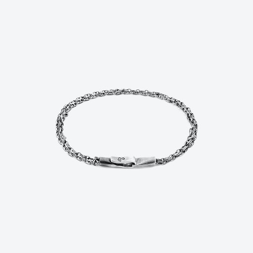 Mainsail Single Sail Silver Chain Bracelet