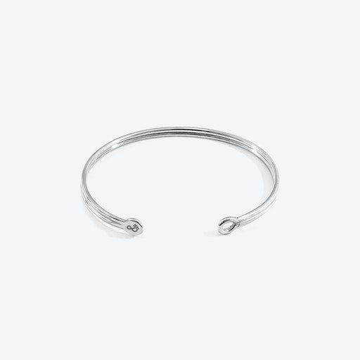 Bartlett Inline Midi Geometric Silver Bangle