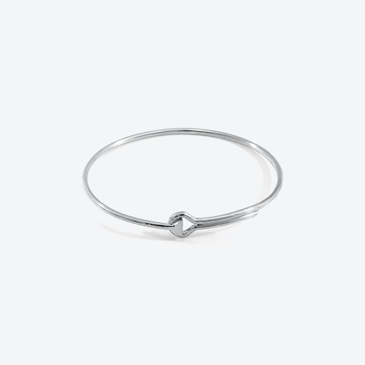 Sutton Gate Midi Geometric Silver Bangle