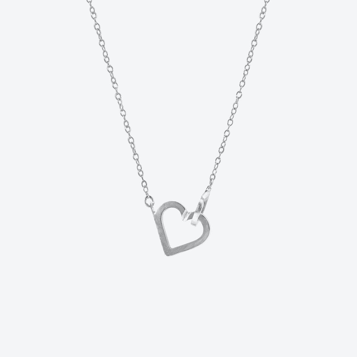 Little Heart Link Paradise Silver Necklace Pendant