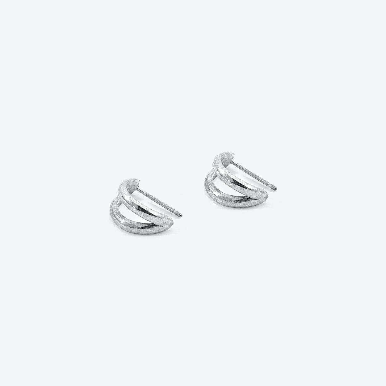 Huntington Surf Silver Earring Studs