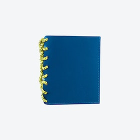 Traffic Blue Felrigg Leather and Rope Wallet