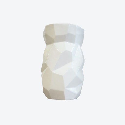 Gloss White Poligon Vase