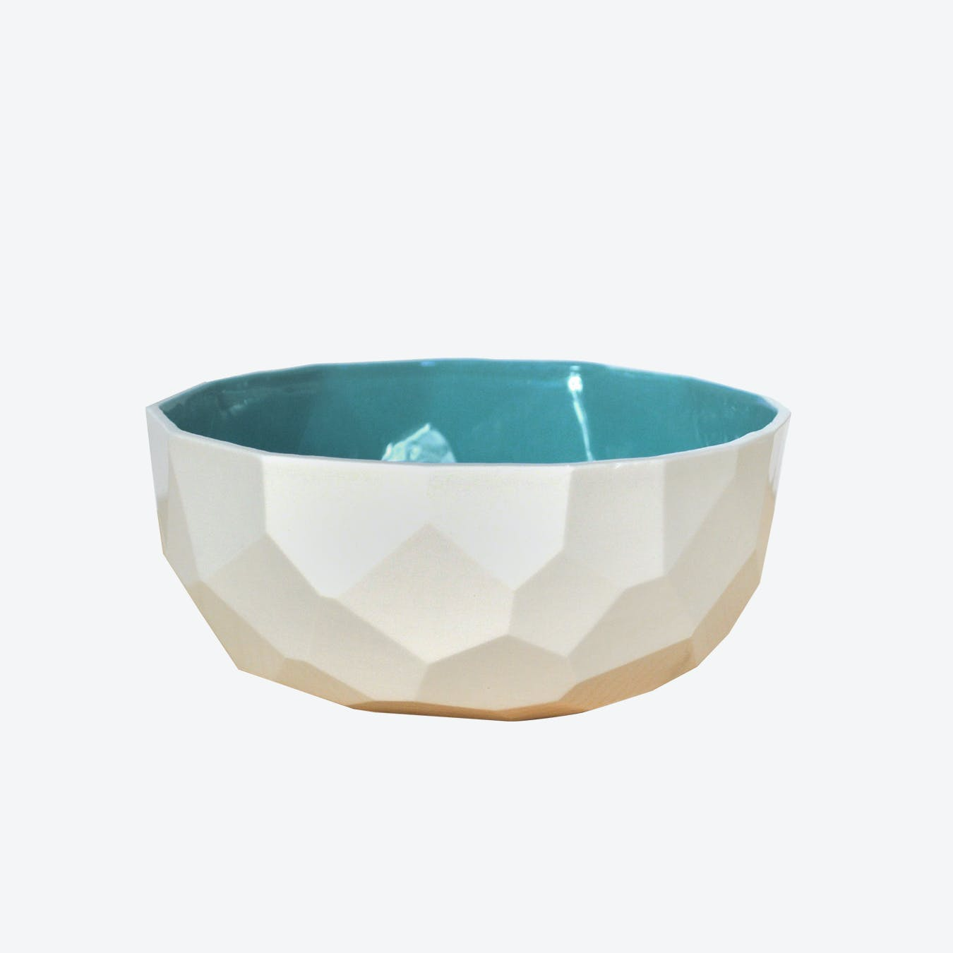 Emerald Green Poligon Fruit Bowl