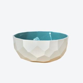 Emerald Green Poligon Fruit Bowl